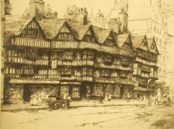 Mabel Catherine Robinson; 'Old Houses Holborn'